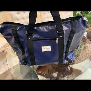 Blue Nautical Large Duffle Bag